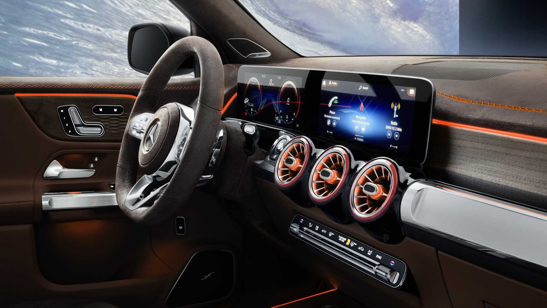 2019 Mercedes-Benz GLB Concept Interior Steering Wheel Wallpaper (14)