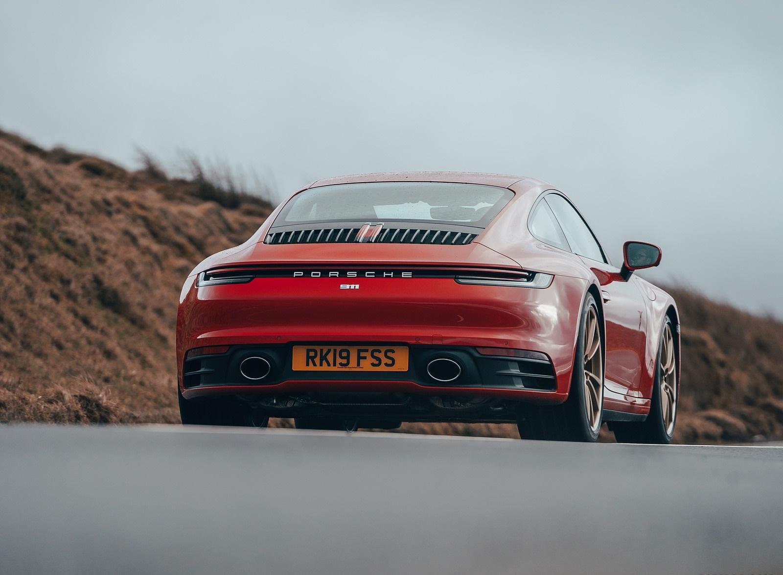 2019 Porsche 911 992 Carrera S Uk Spec Rear Wallpapers 16