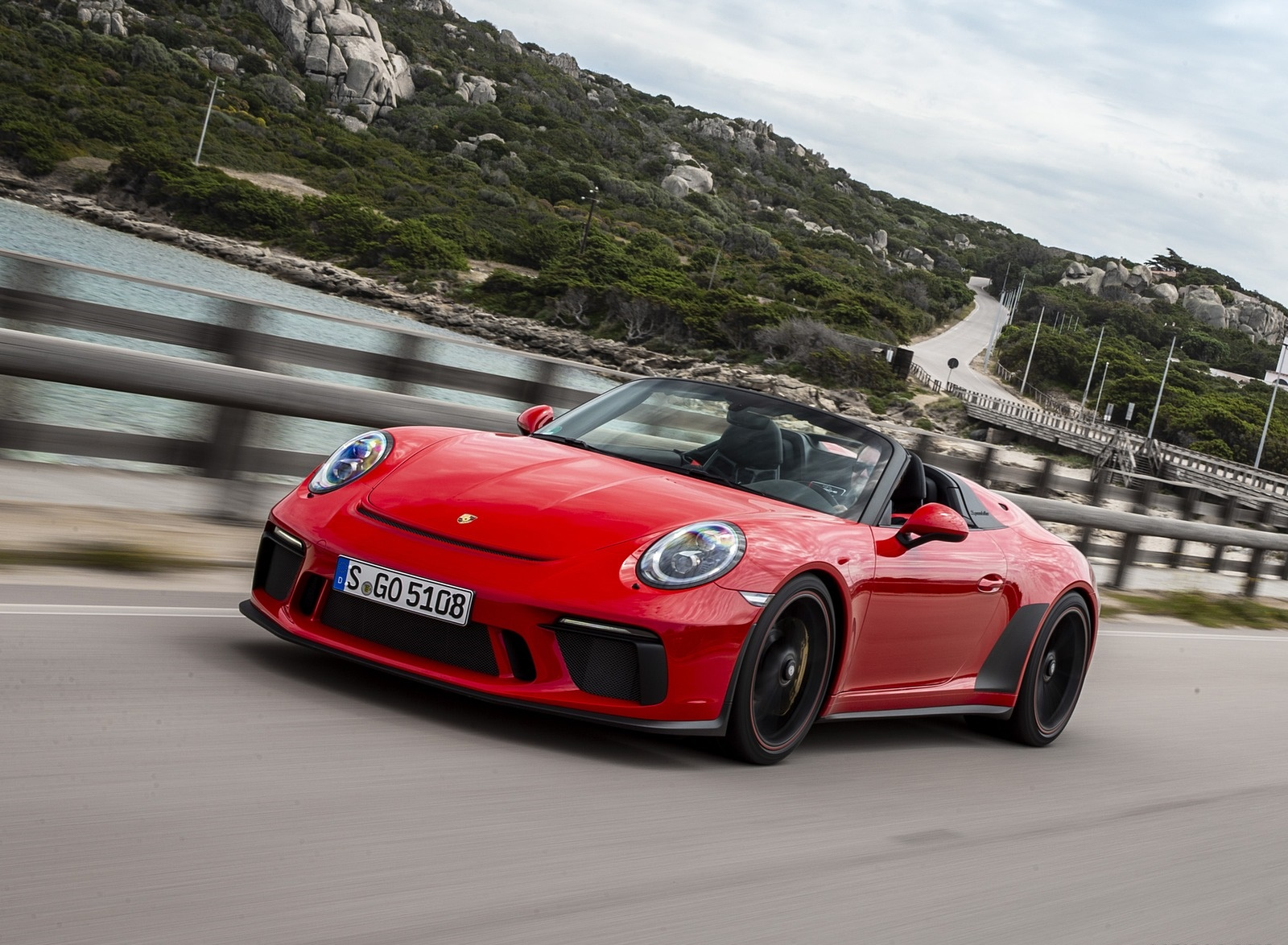 2019 Porsche 911 Speedster (Color: Guards Red) Front Three-Quarter Wallpapers (1)