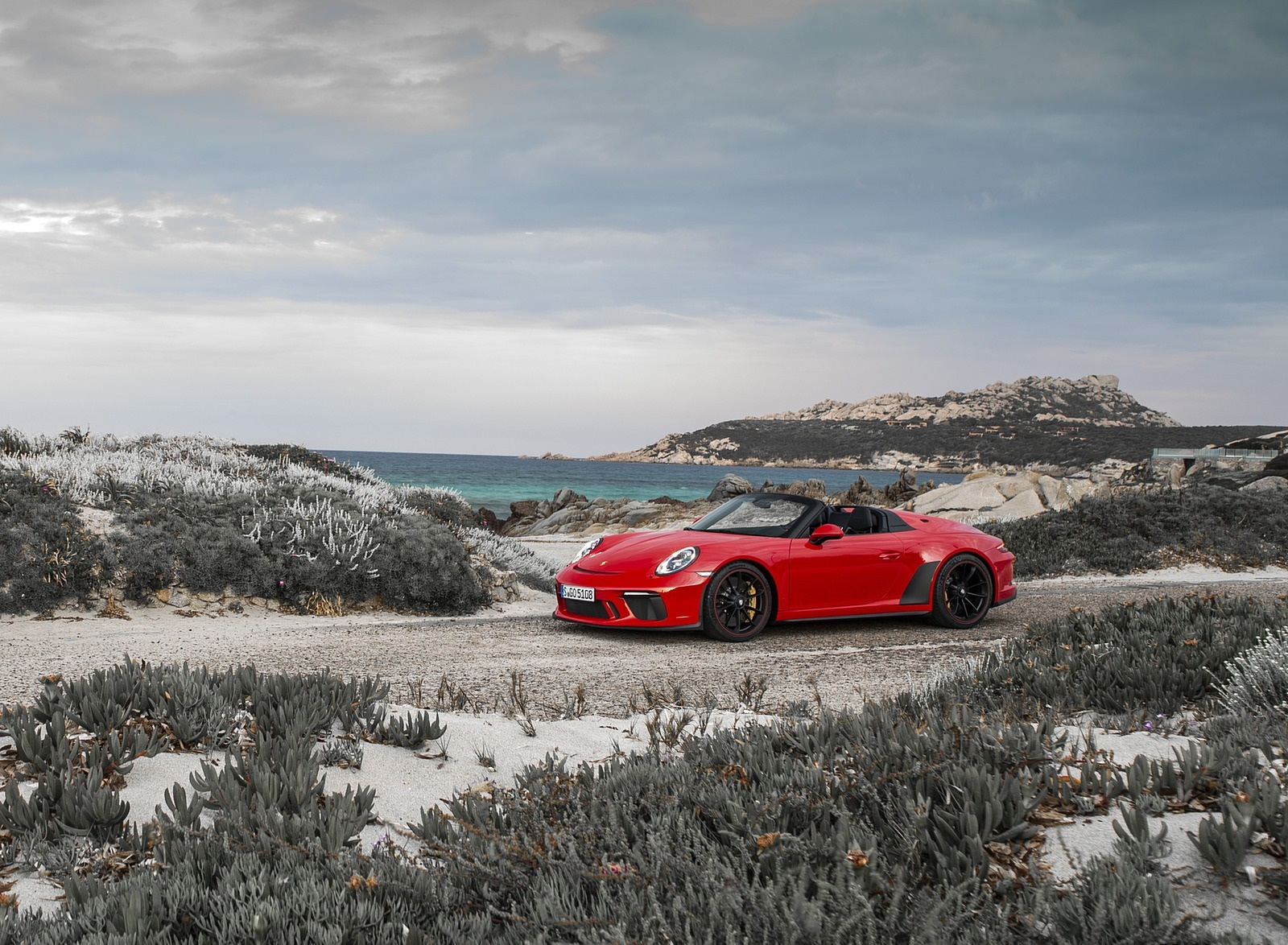 2019 Porsche 911 Speedster (Color: Guards Red) Front Three-Quarter Wallpapers (12)