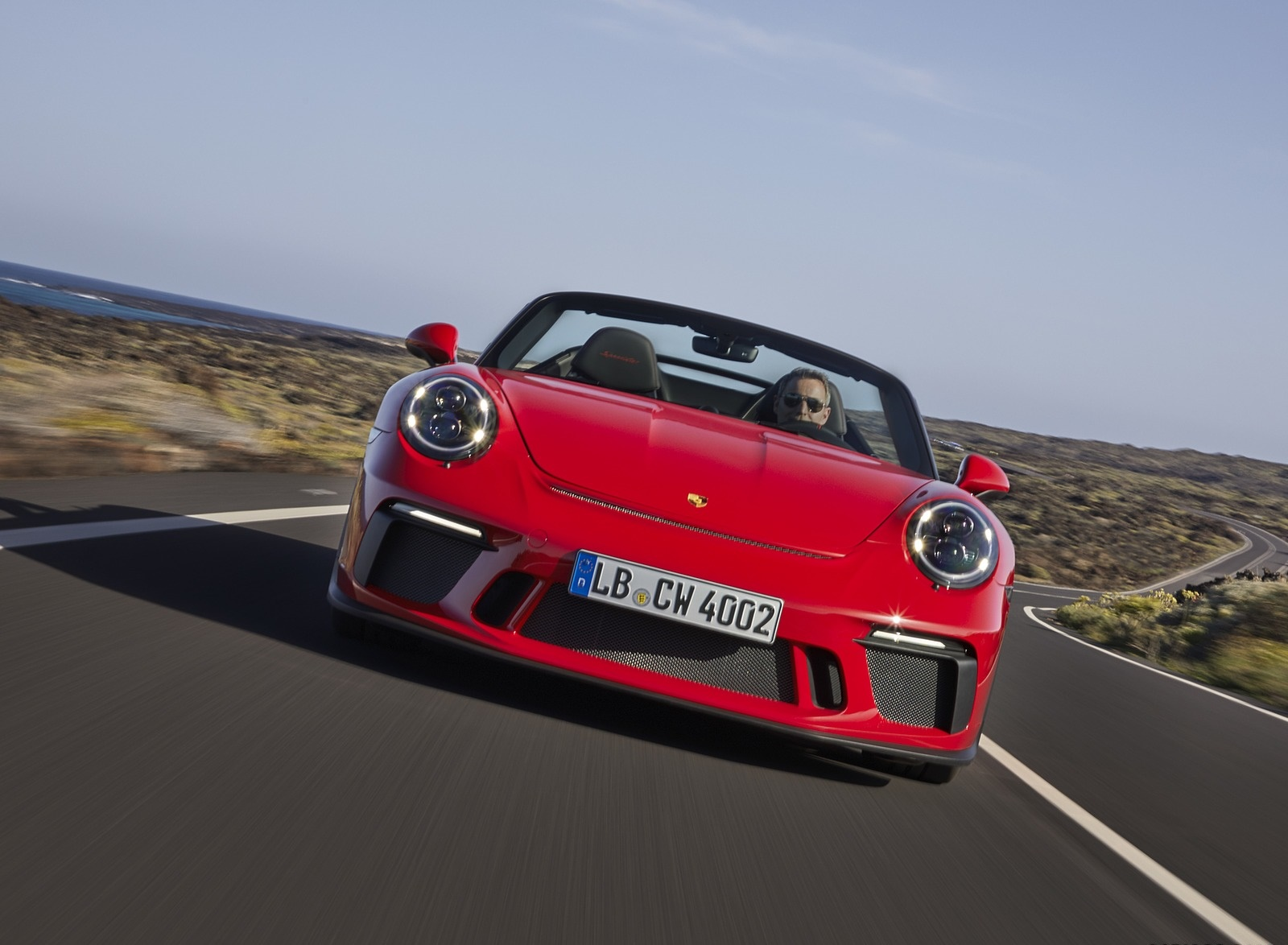 2019 Porsche 911 Speedster (Color: Guards Red) Front Wallpapers (4)