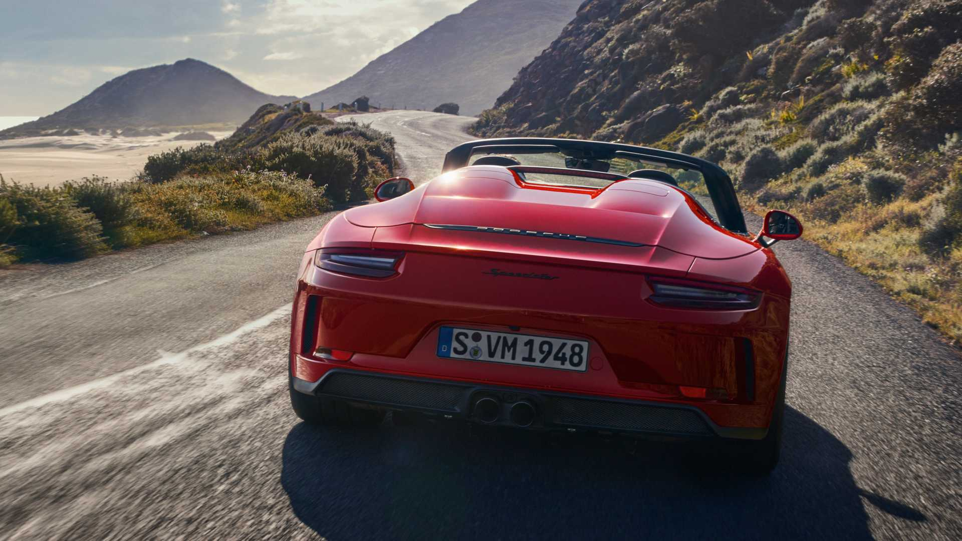 2019 Porsche 911 Speedster Rear Wallpaper (2)