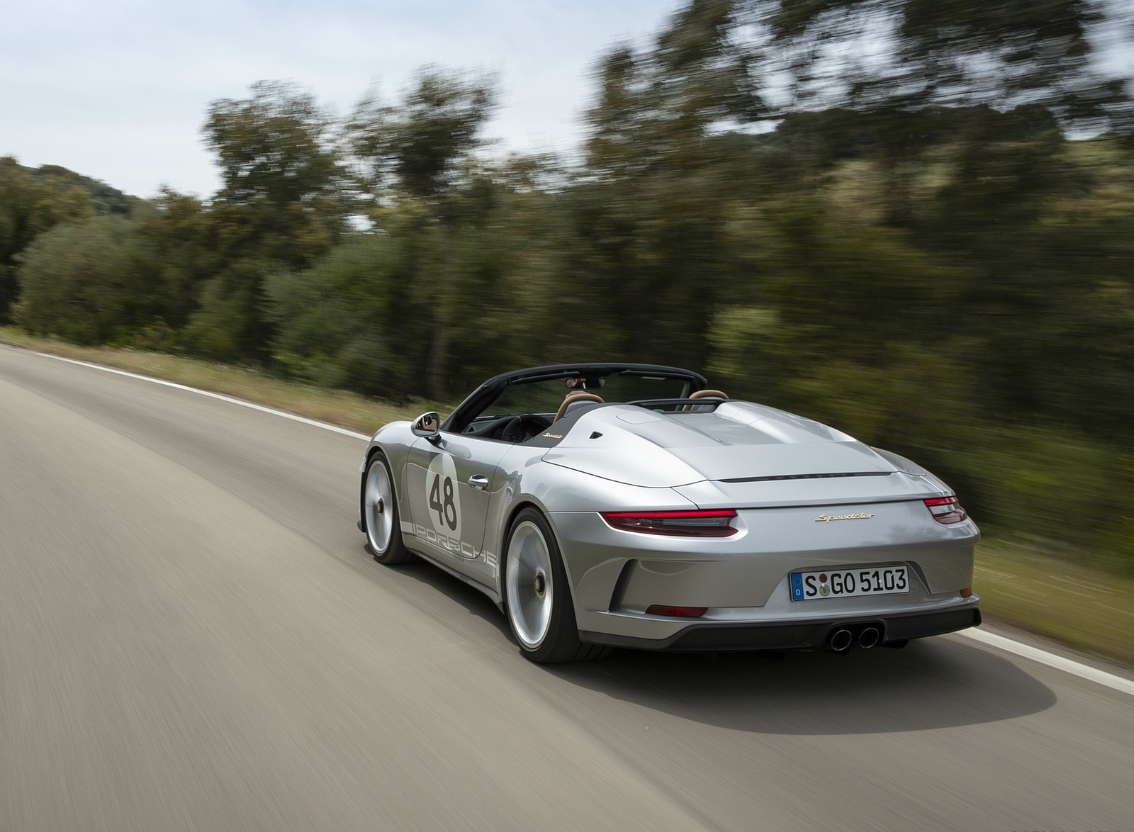 2019 Porsche 911 Speedster with Heritage Design Package Rear Three-Quarter Wallpapers (8)