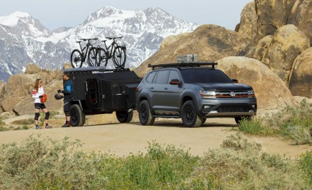 2019 Volkswagen Atlas Basecamp Concept Front Three-Quarter Wallpaper 450x275 (5)