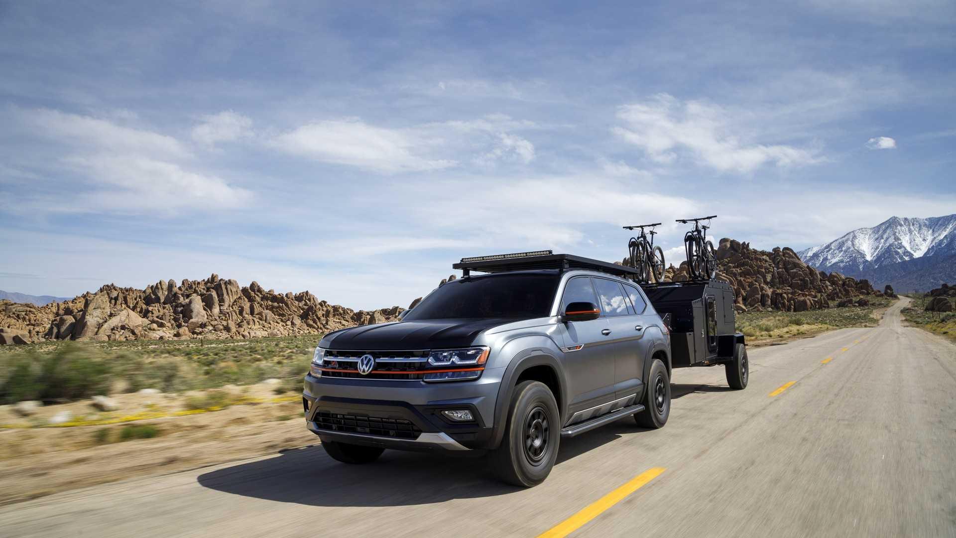 2019 Volkswagen Atlas Basecamp Concept Front Three-Quarter Wallpapers (2)