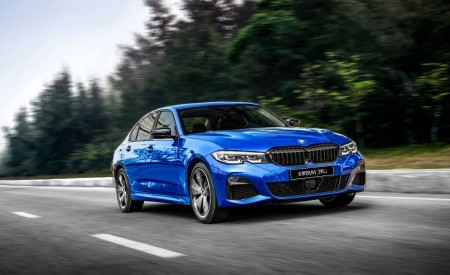 2020 BMW 3 Series Sedan Long Wheelbase Front Three-Quarter Wallpapers 450x275 (4)
