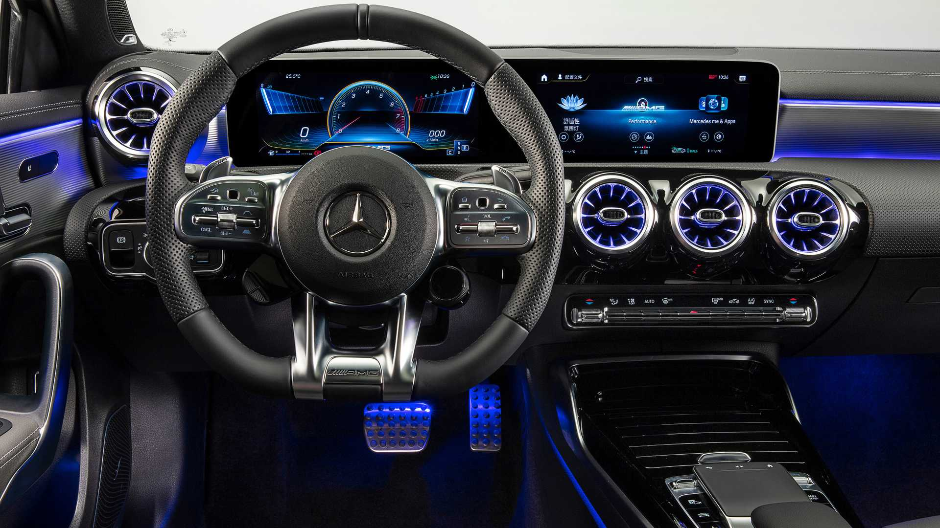 2020 Mercedes-AMG A35 L Sedan 4MATIC Interior Steering Wheel Wallpapers (10)