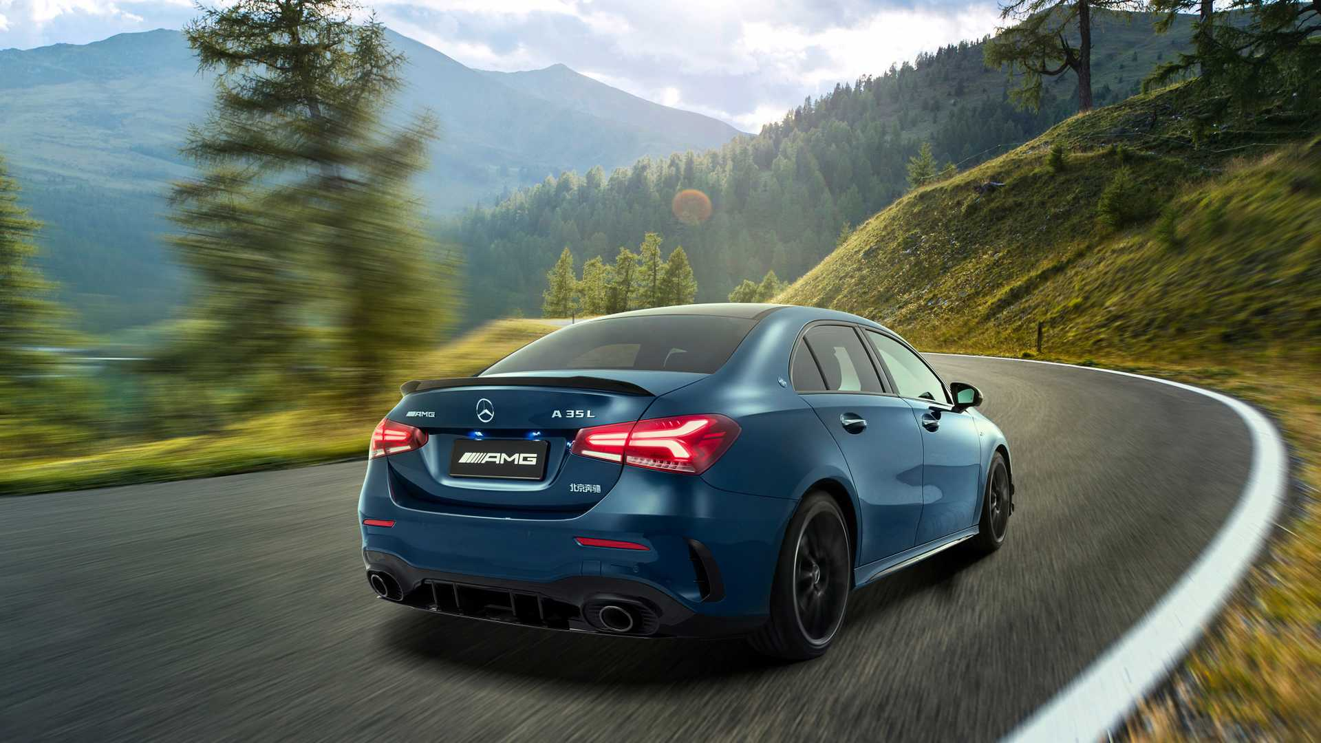 2020 Mercedes-AMG A35 L Sedan 4MATIC Rear Three-Quarter Wallpaper (3)