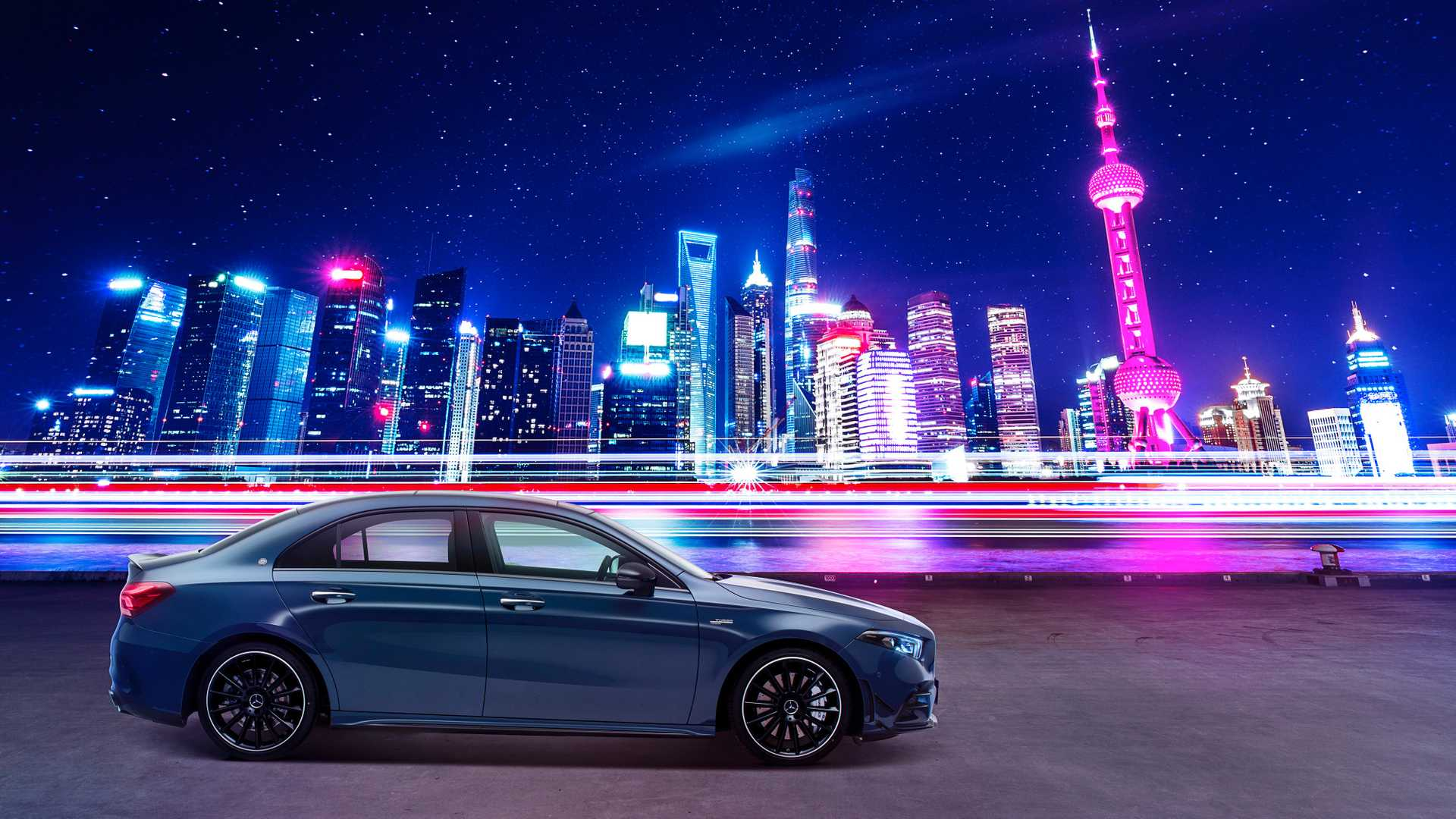 2020 Mercedes-AMG A35 L Sedan 4MATIC Side Wallpaper (4)