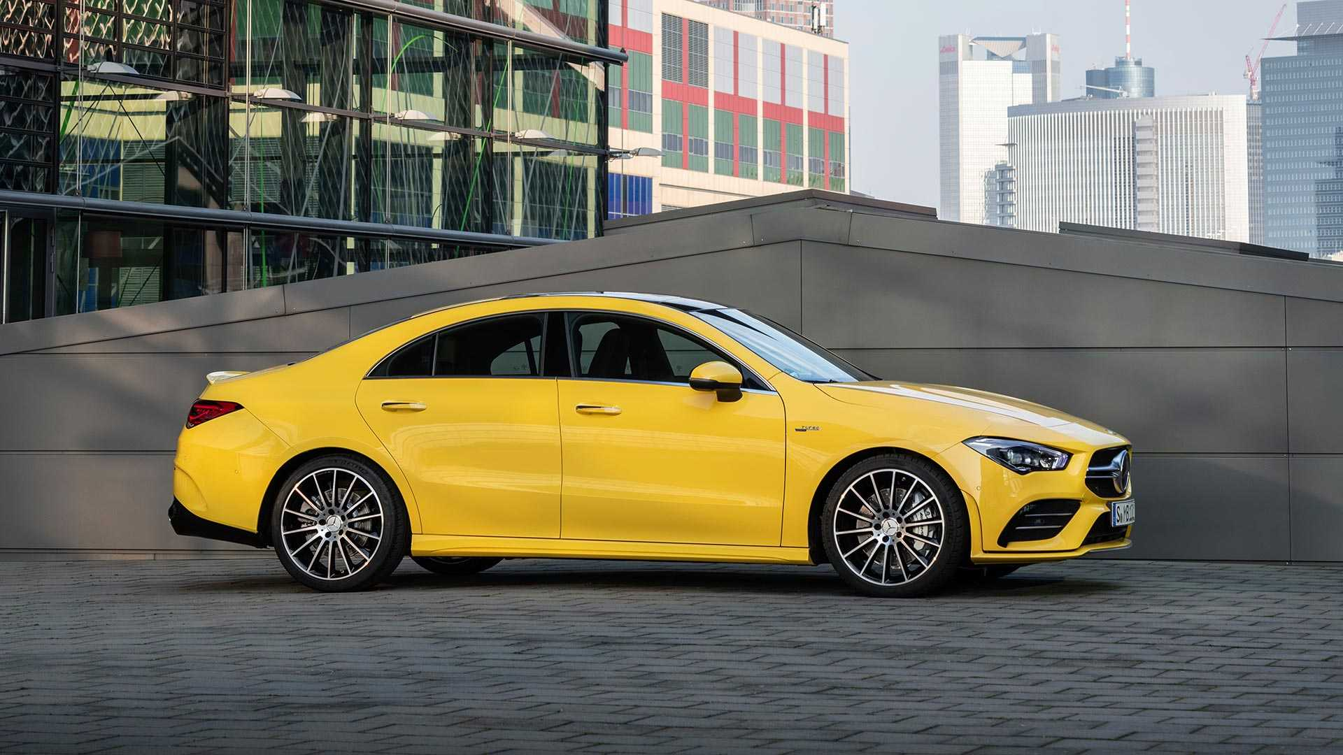 2020 Mercedes-AMG CLA 35 4MATIC (Color: Sun Yellow) Front Three-Quarter Wallpapers (13)