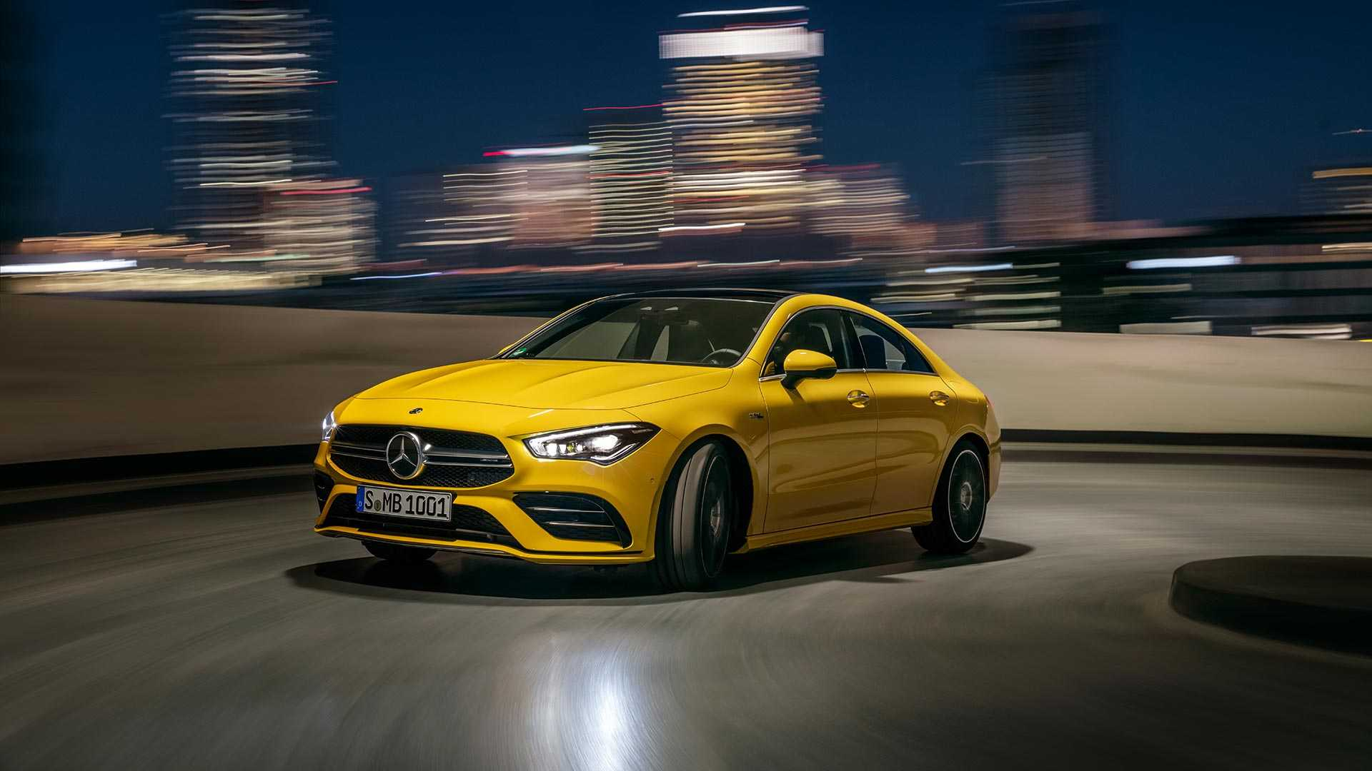 2020 Mercedes-AMG CLA 35 4MATIC (Color: Sun Yellow) Front Three-Quarter Wallpapers (6)