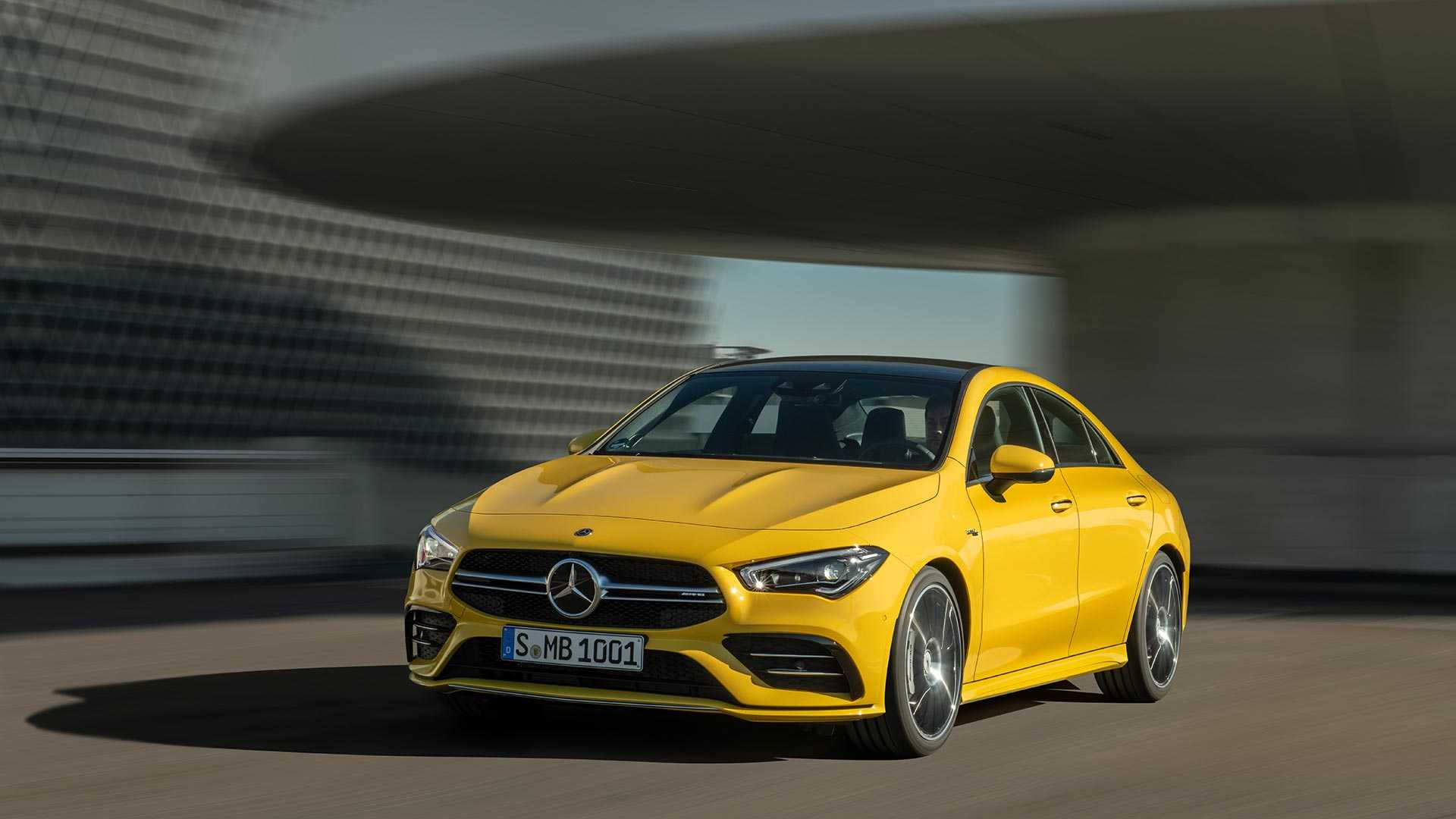2020 Mercedes-AMG CLA 35 4MATIC (Color: Sun Yellow) Front Three-Quarter Wallpapers (1)