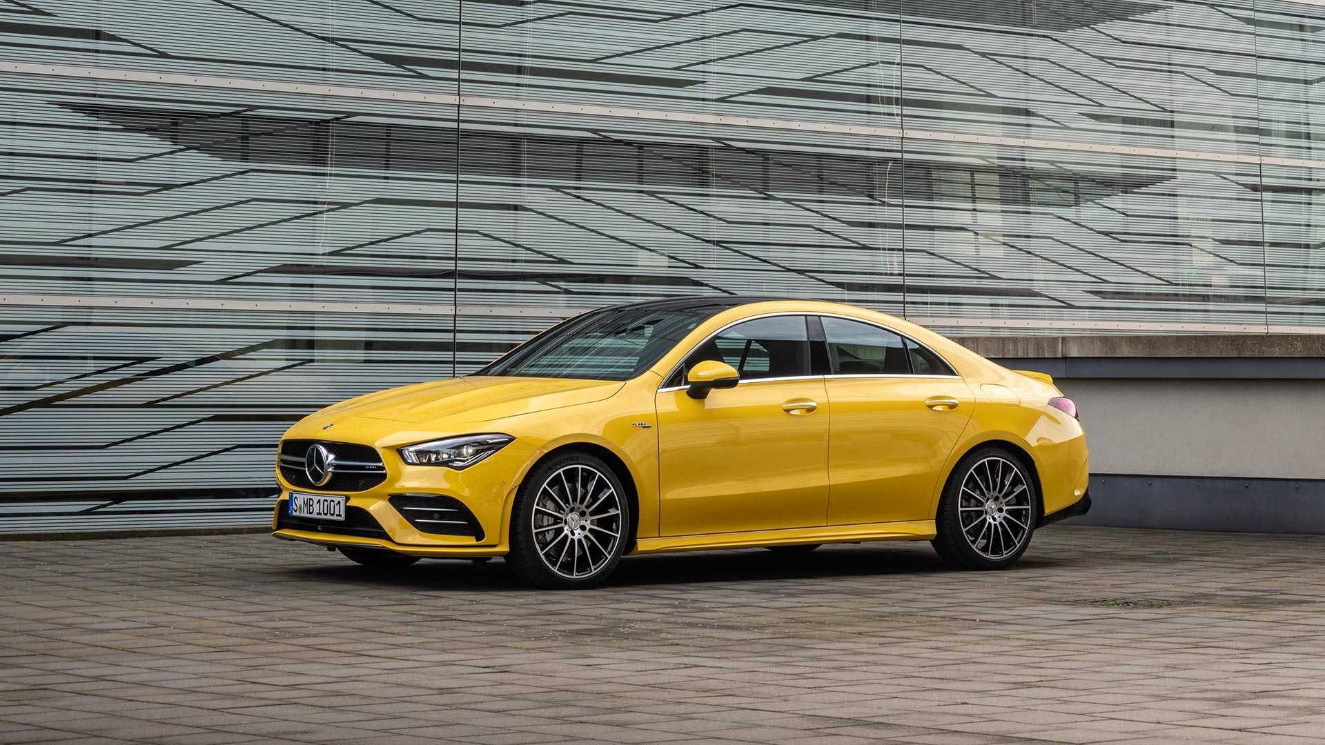 2020 Mercedes-AMG CLA 35 4MATIC (Color: Sun Yellow) Front Three-Quarter Wallpapers (14)