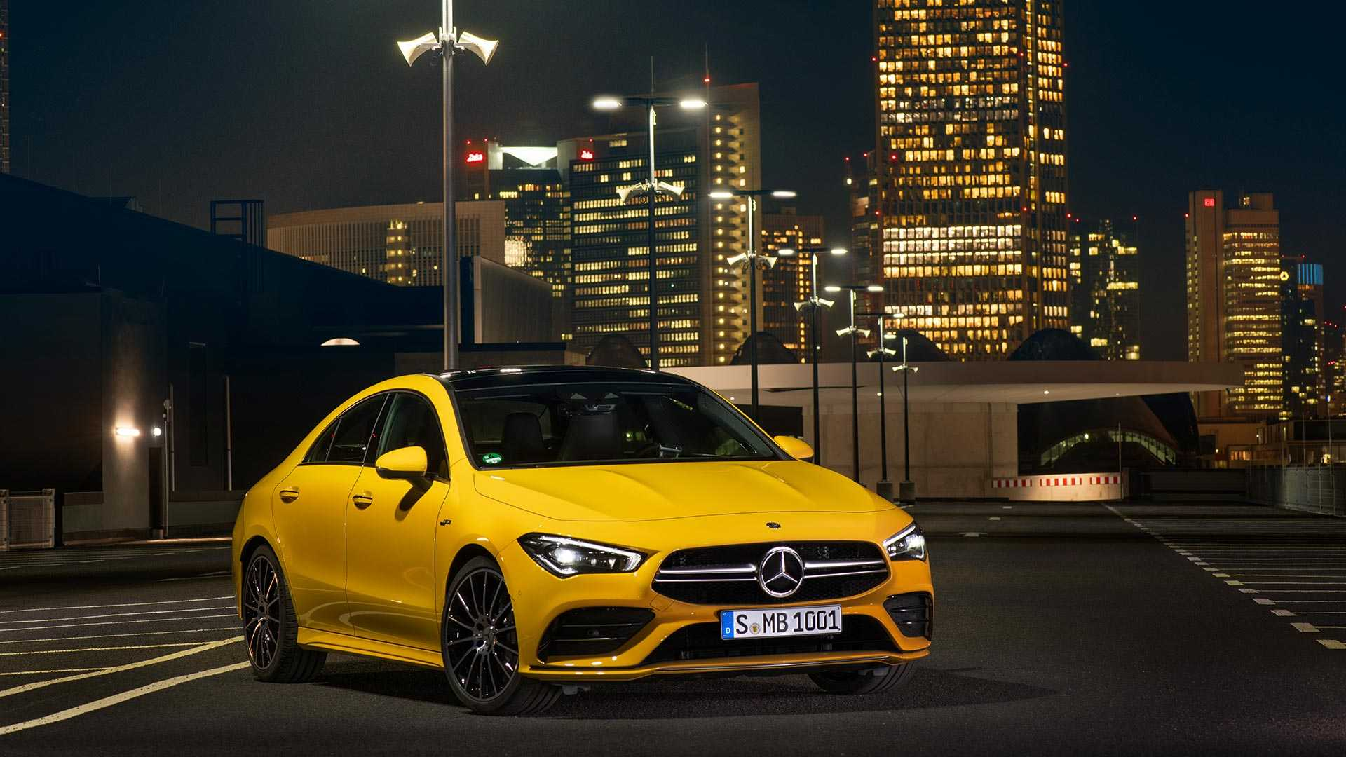 2020 Mercedes-AMG CLA 35 4MATIC (Color: Sun Yellow) Front Three-Quarter Wallpapers (7)