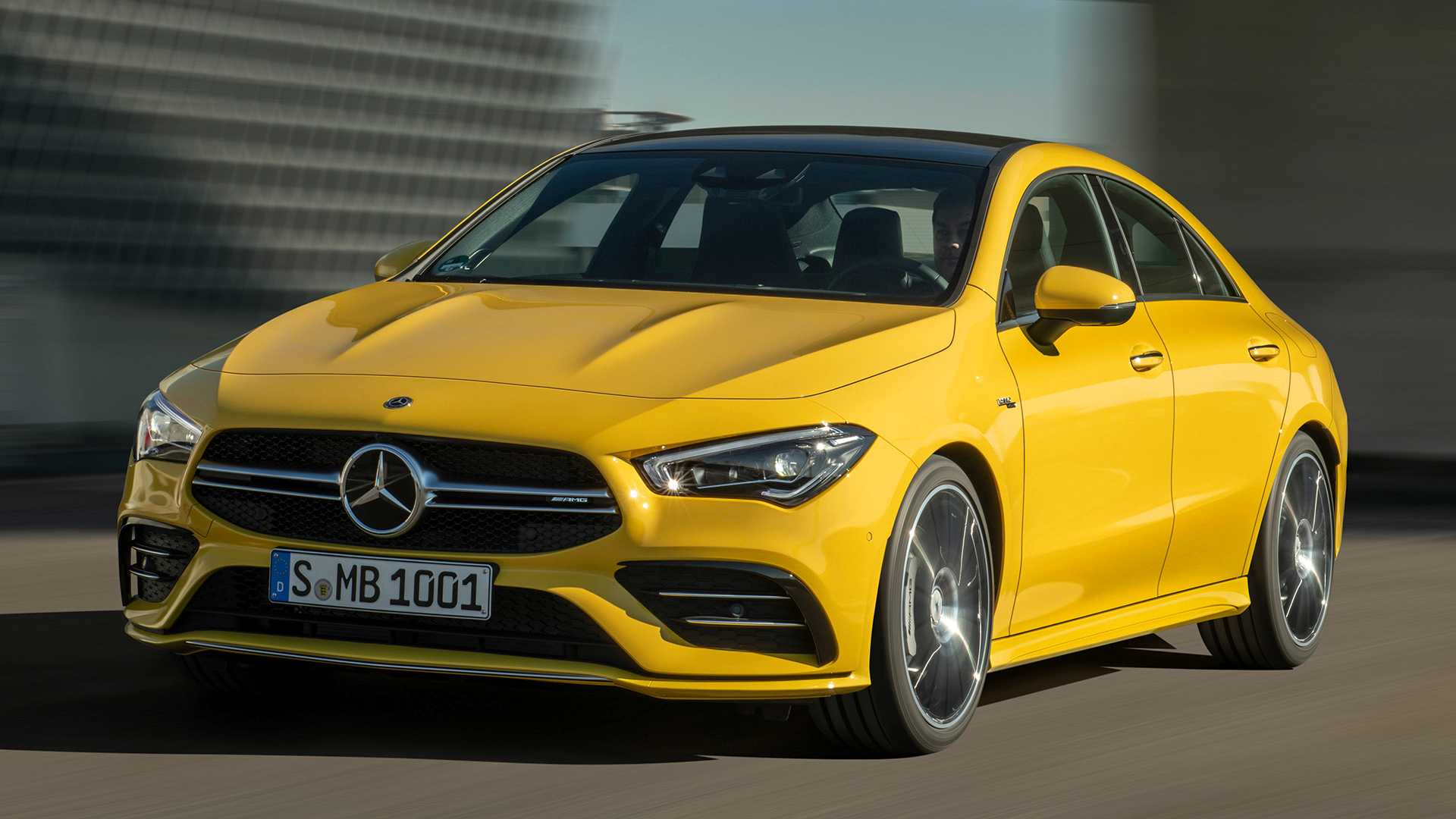 2020 Mercedes-AMG CLA 35 4MATIC (Color: Sun Yellow) Front Wallpapers (3)