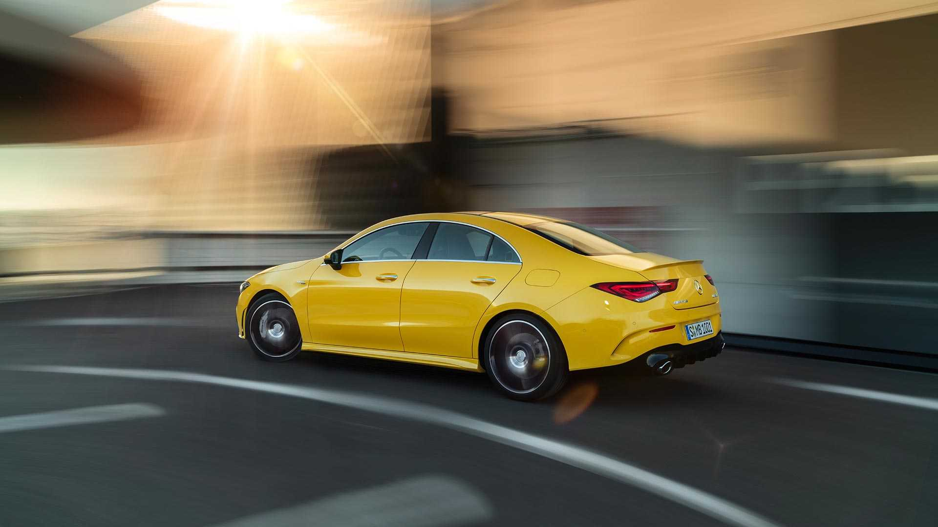 2020 Mercedes-AMG CLA 35 4MATIC (Color: Sun Yellow) Rear Three-Quarter Wallpapers (9)