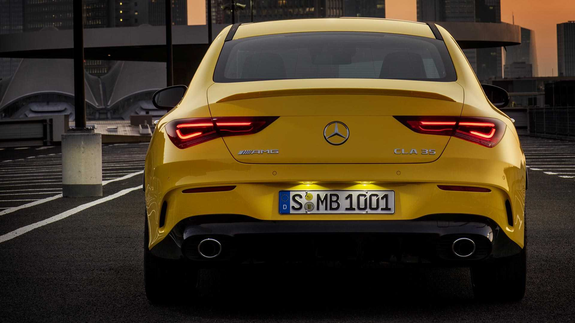 2020 Mercedes-AMG CLA 35 4MATIC (Color: Sun Yellow) Rear Wallpapers (10)