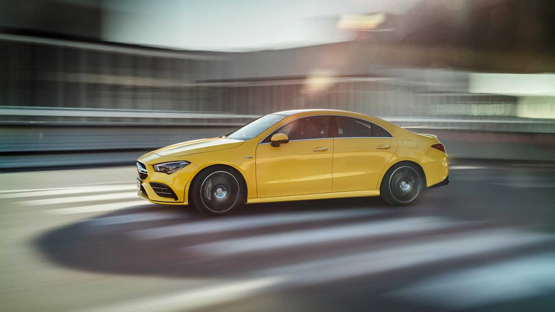 2020 Mercedes-AMG CLA 35 4MATIC (Color: Sun Yellow) Side Wallpapers (11)