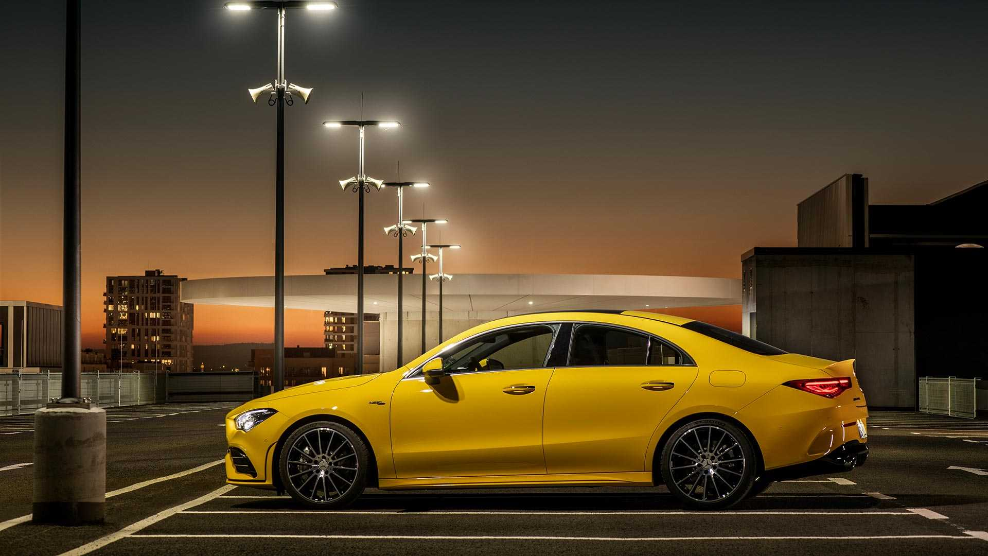 2020 Mercedes-AMG CLA 35 4MATIC (Color: Sun Yellow) Side Wallpapers (12)