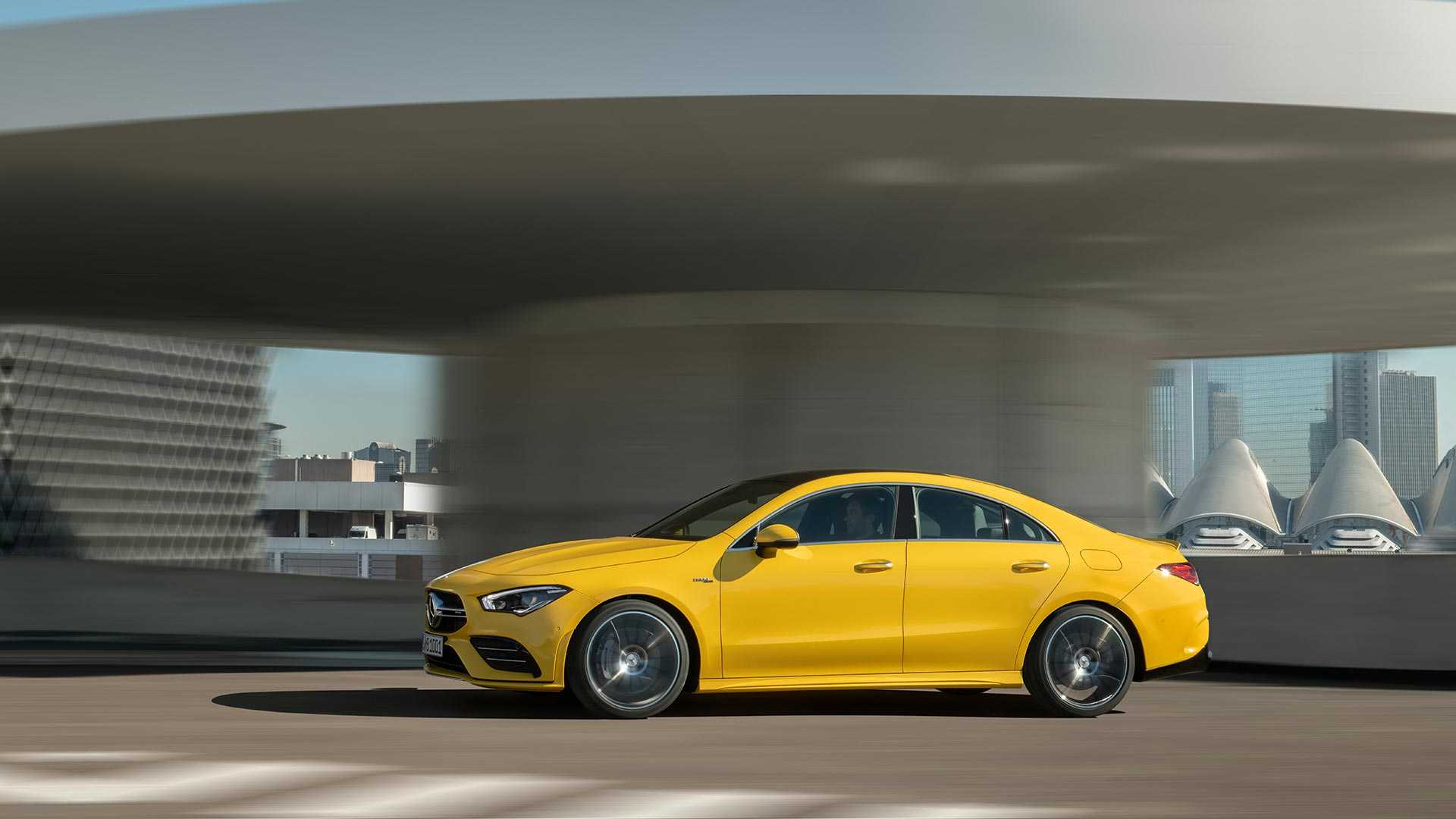 2020 Mercedes-AMG CLA 35 4MATIC (Color: Sun Yellow) Side Wallpapers (4)