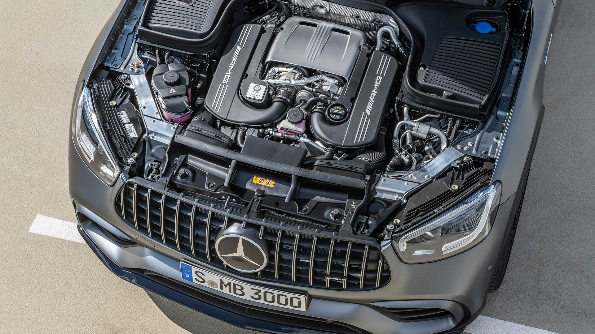 2020 Mercedes-AMG GLC 63 Coupe Engine Wallpapers (15)