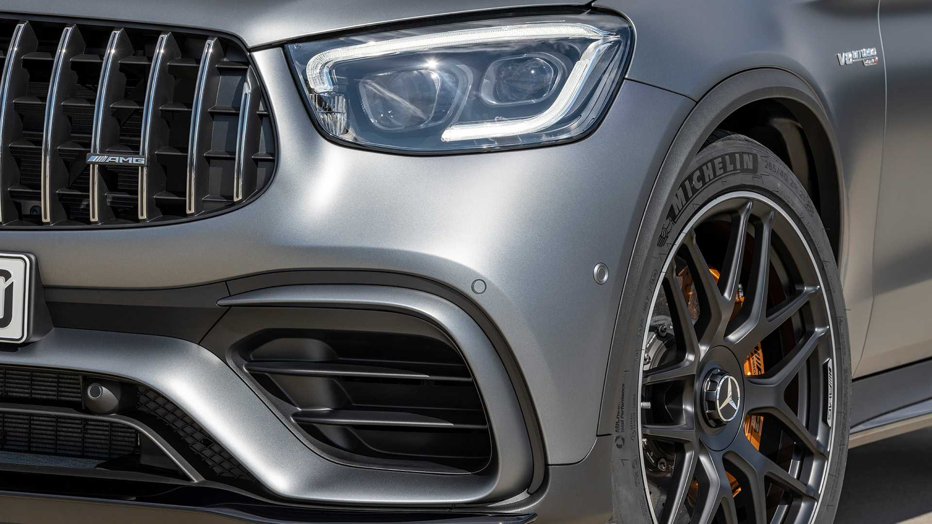 2020 Mercedes Amg Glc 63 Coupe Front Bumper Wallpapers 82 Newcarcars