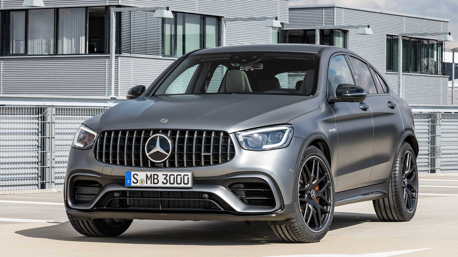 2020 Mercedes-AMG GLC 63 Coupe Front Three-Quarter Wallpapers (7)