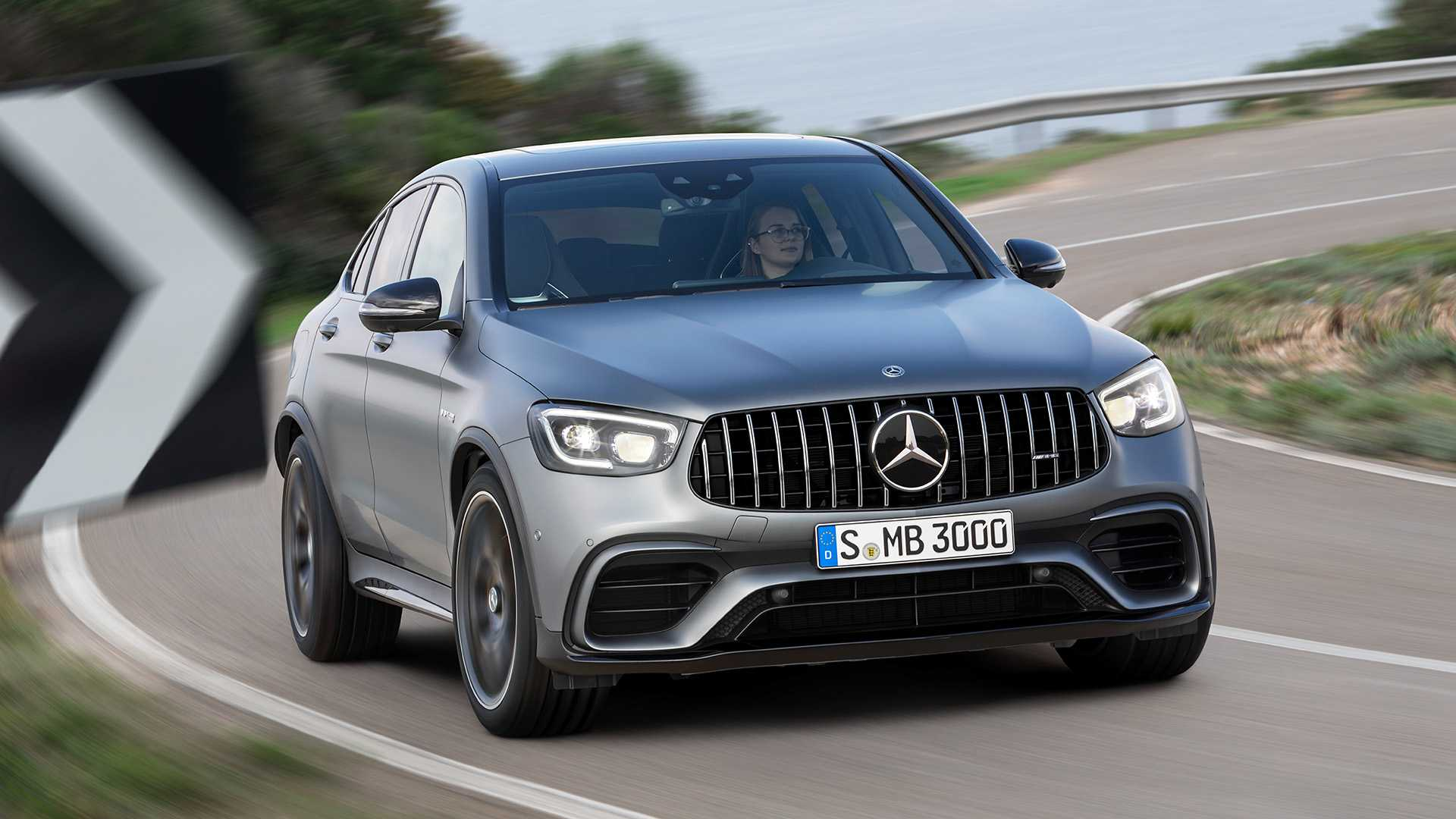 2020 Mercedes-AMG GLC 63 Coupe Front Wallpapers (3)
