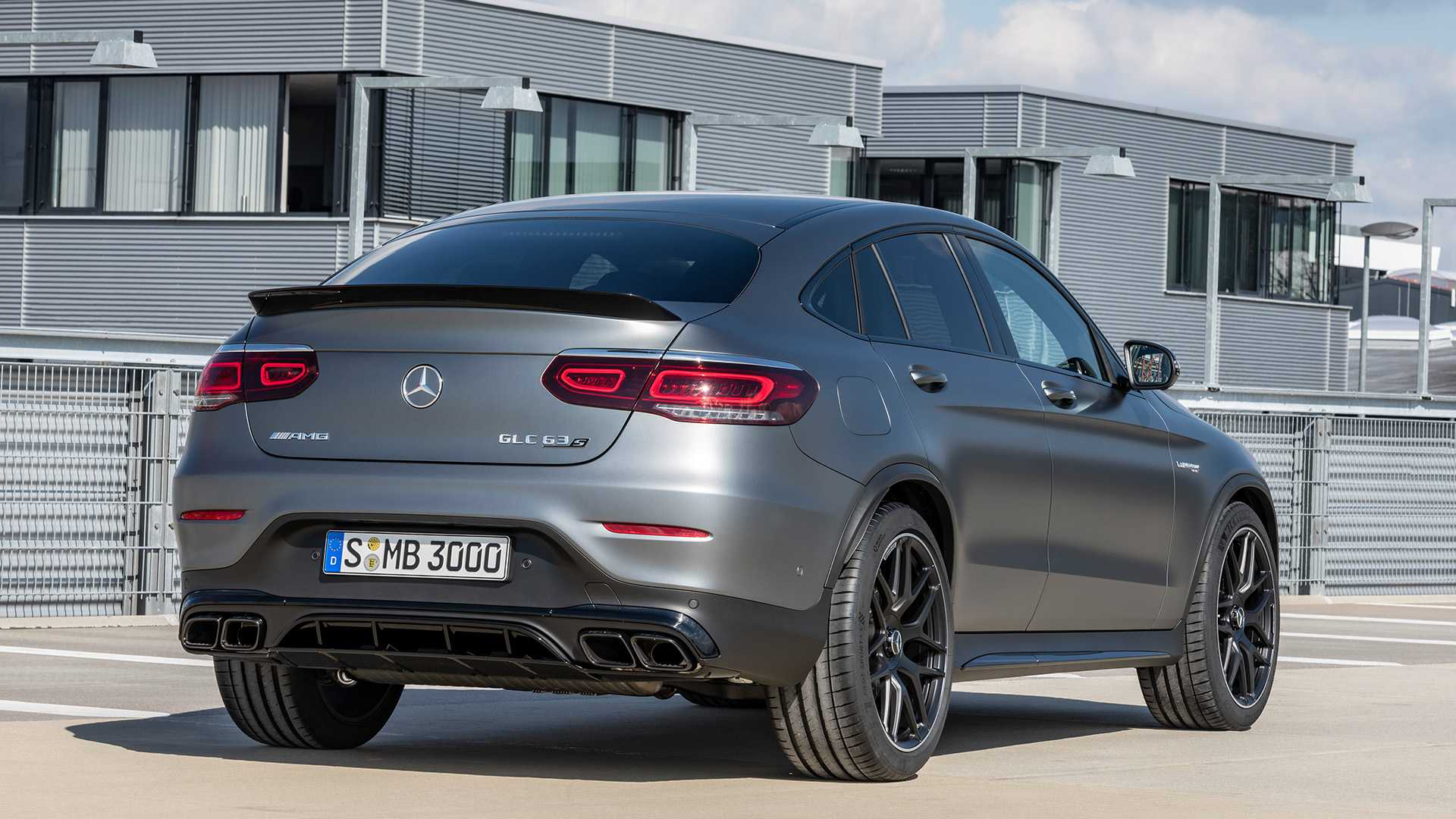 2020 Mercedes-AMG GLC 63 Coupe Rear Three-Quarter Wallpapers (9)