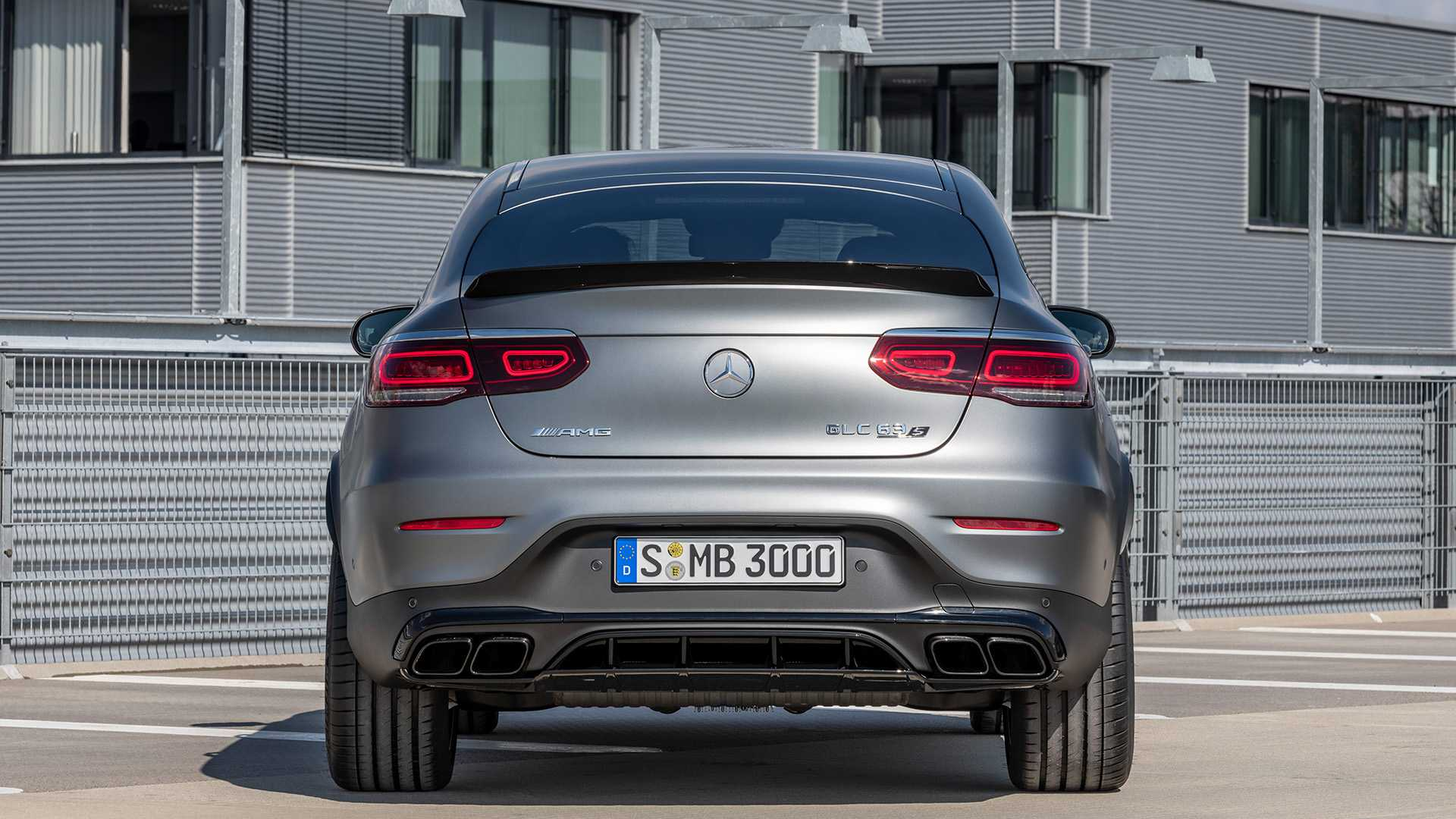 2020 Mercedes-AMG GLC 63 Coupe Rear Wallpapers (10)