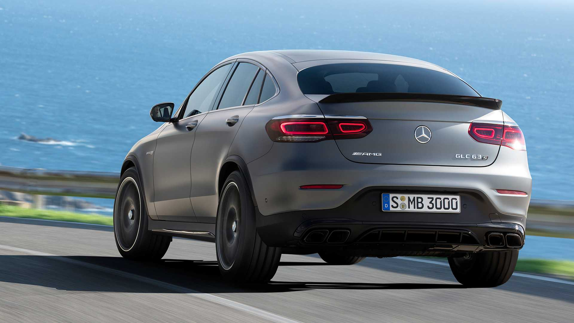 2020 Mercedes-AMG GLC 63 Coupe Rear Wallpapers (4)