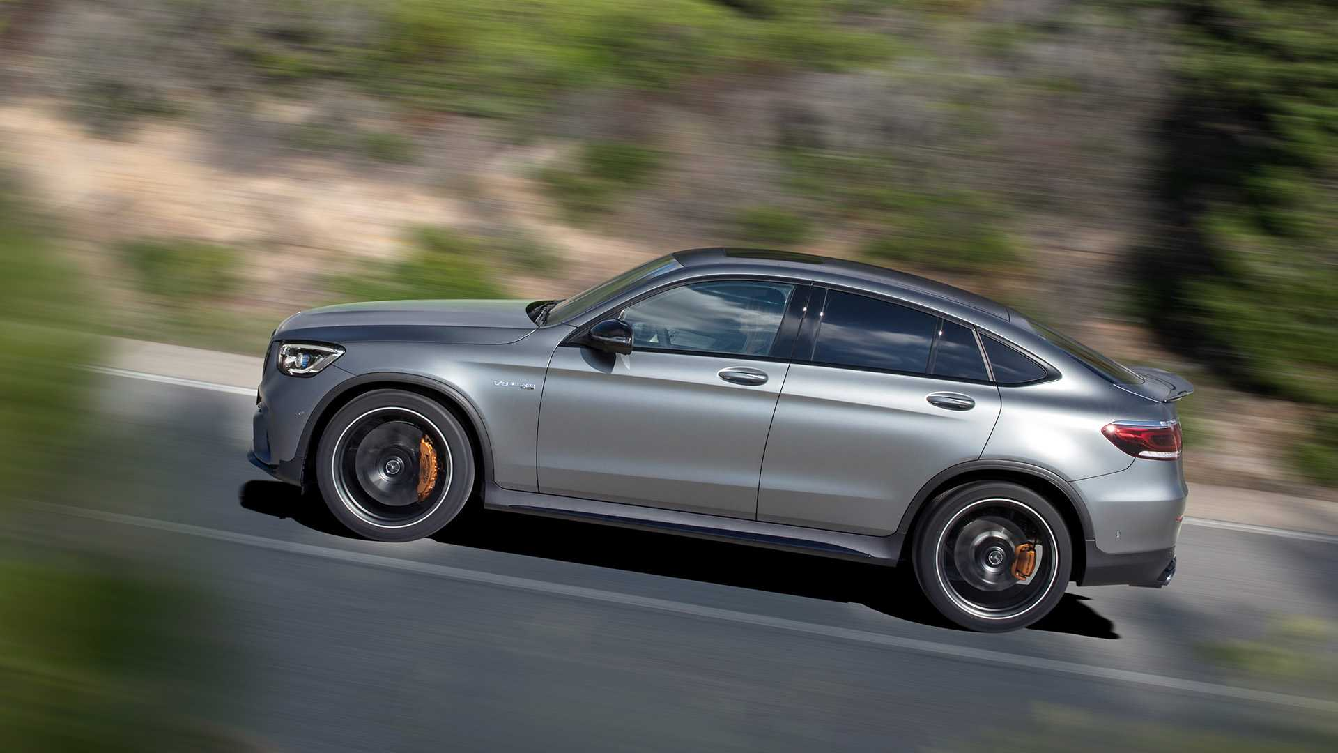 2020 Mercedes-AMG GLC 63 Coupe Side Wallpapers (5)