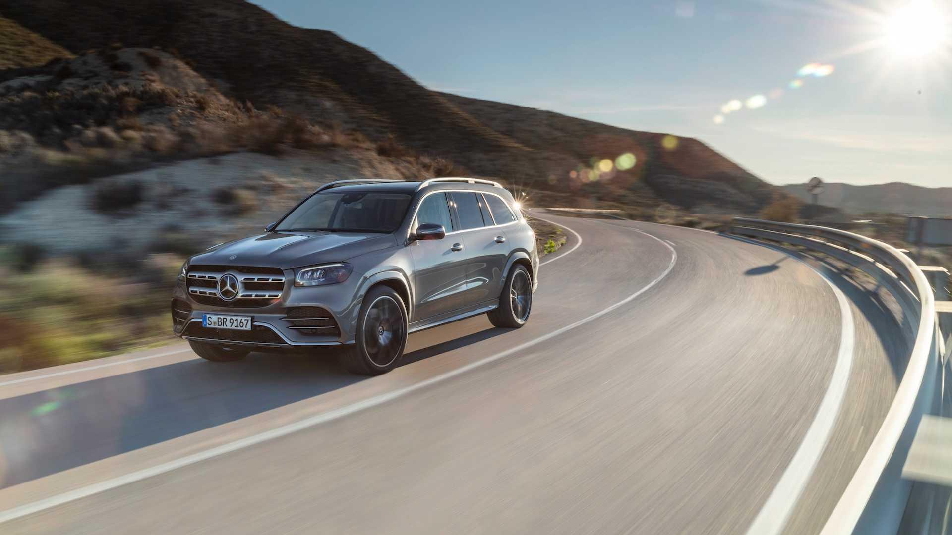 2020 Mercedes-Benz GLS AMG Line (Color: Designo Selenite Grey Metallic) Front Three-Quarter Wallpaper (2)