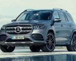 2020 Mercedes-Benz GLS AMG Line (Color: Designo Selenite Grey Metallic) Front Three-Quarter Wallpapers 150x120 (22)