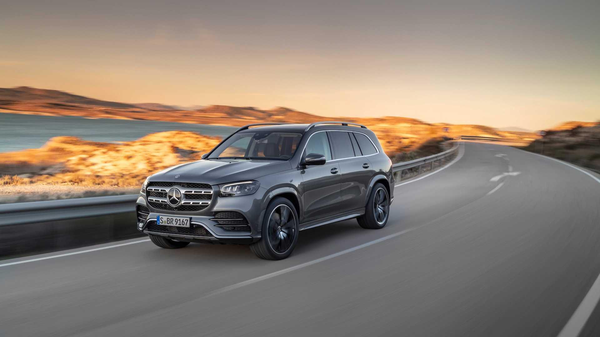 2020 Mercedes-Benz GLS AMG Line (Color: Designo Selenite Grey Metallic) Front Three-Quarter Wallpaper (4)