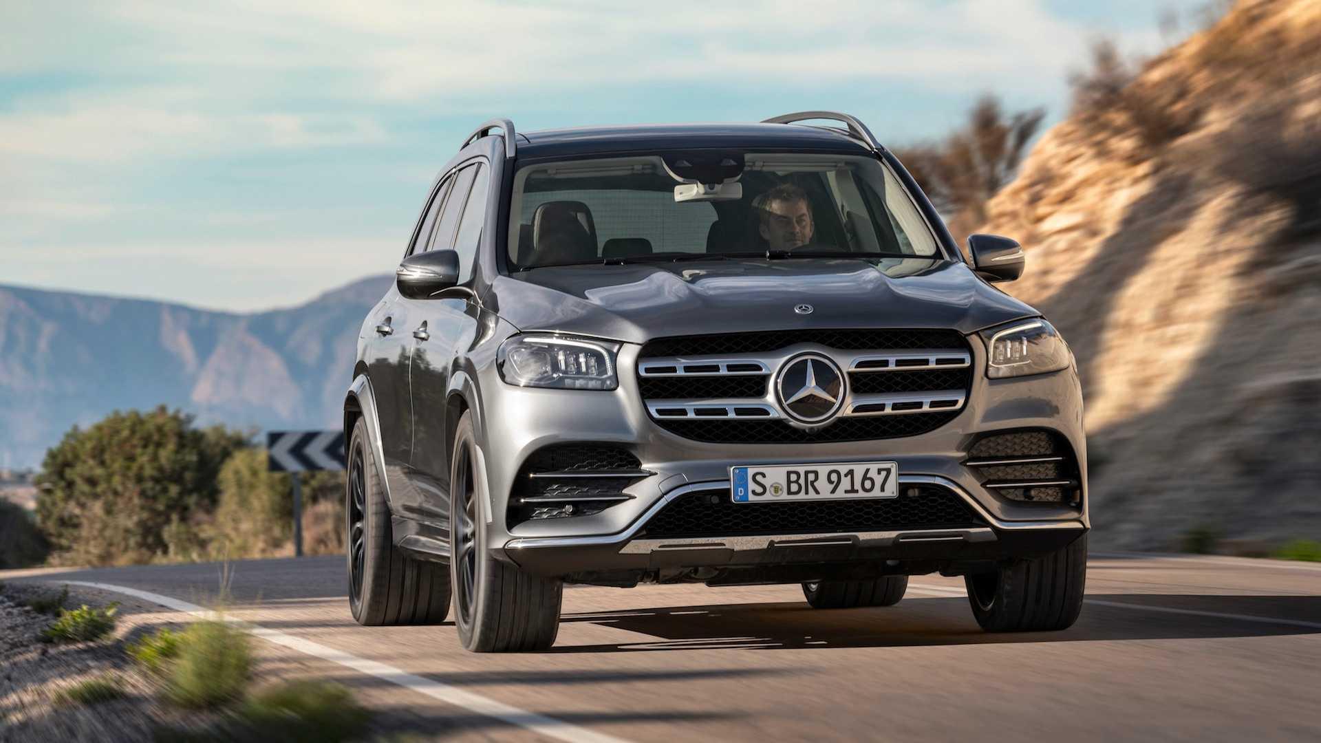 2020 Mercedes-Benz GLS AMG Line (Color: Designo Selenite Grey Metallic) Front Wallpapers (5)