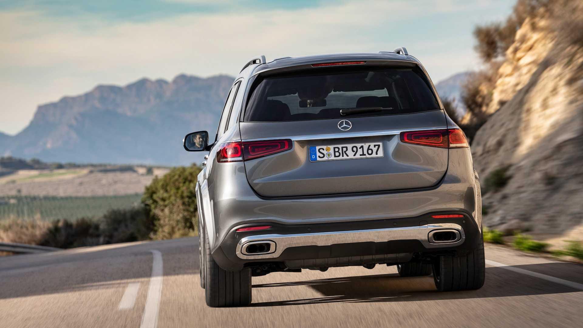 2020 Mercedes-Benz GLS AMG Line (Color: Designo Selenite Grey Metallic) Rear Wallpapers (8)