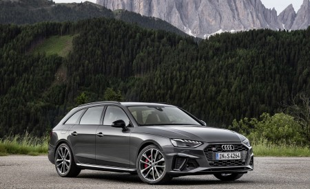 2019 Audi S4 Avant TDI (Color: Daytona Gray) Front Three-Quarter Wallpapers 450x275 (8)