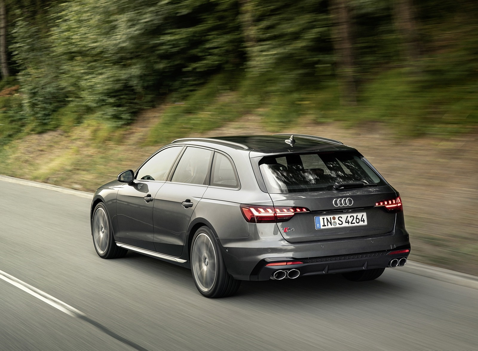 2019 Audi S4 Avant TDI (Color: Daytona Gray) Rear Three-Quarter Wallpapers (4)