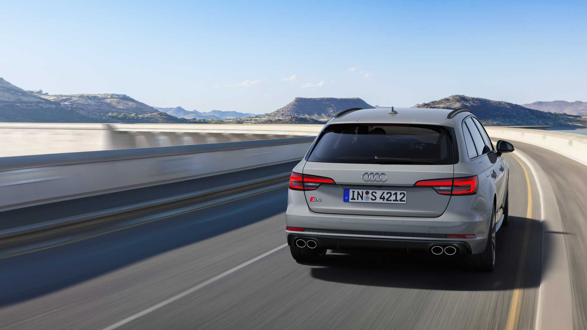 2019 Audi S4 Avant TDI (Color: Quantum Gray) Rear Wallpapers (3)