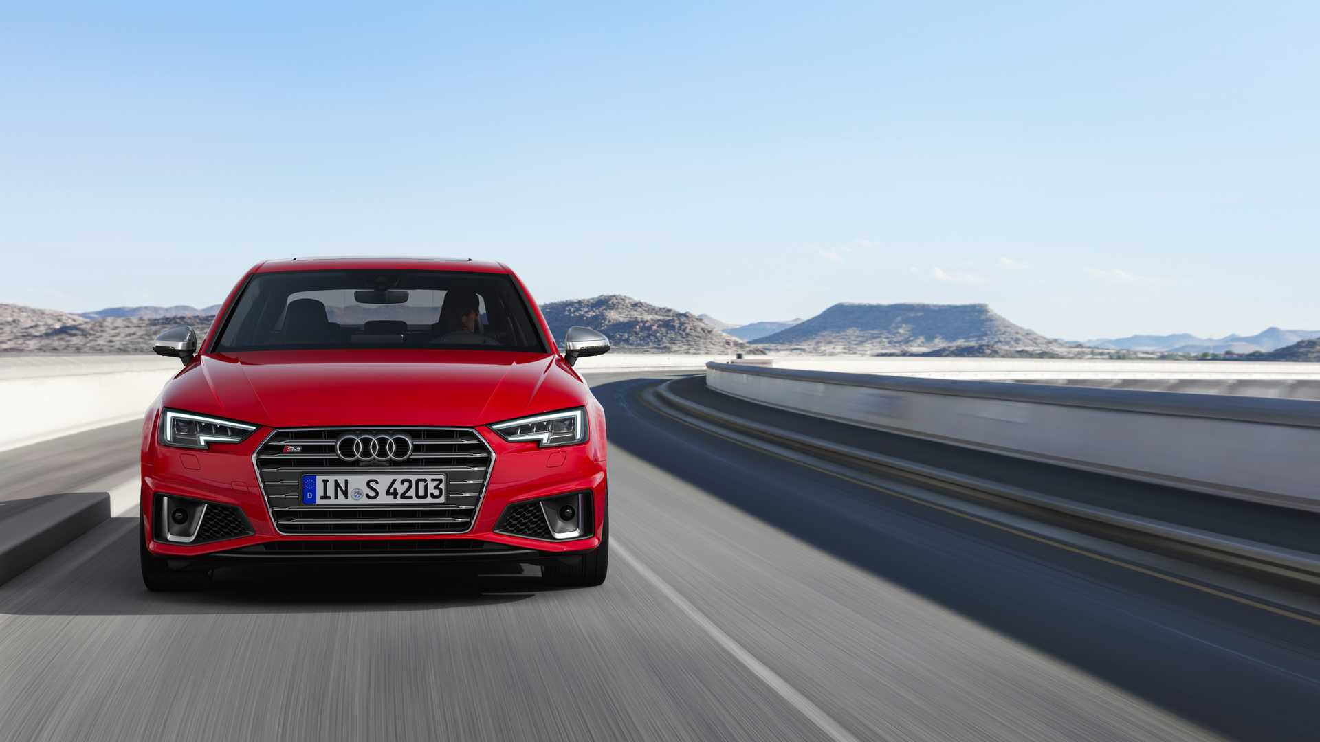 2019 Audi S4 Sedan TDI (Color: Misano Red) Front Wallpapers (2)