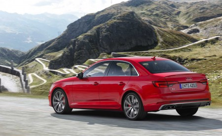 2019 Audi S4 Sedan TDI (Color: Misano Red) Rear Three-Quarter Wallpapers 450x275 (33)