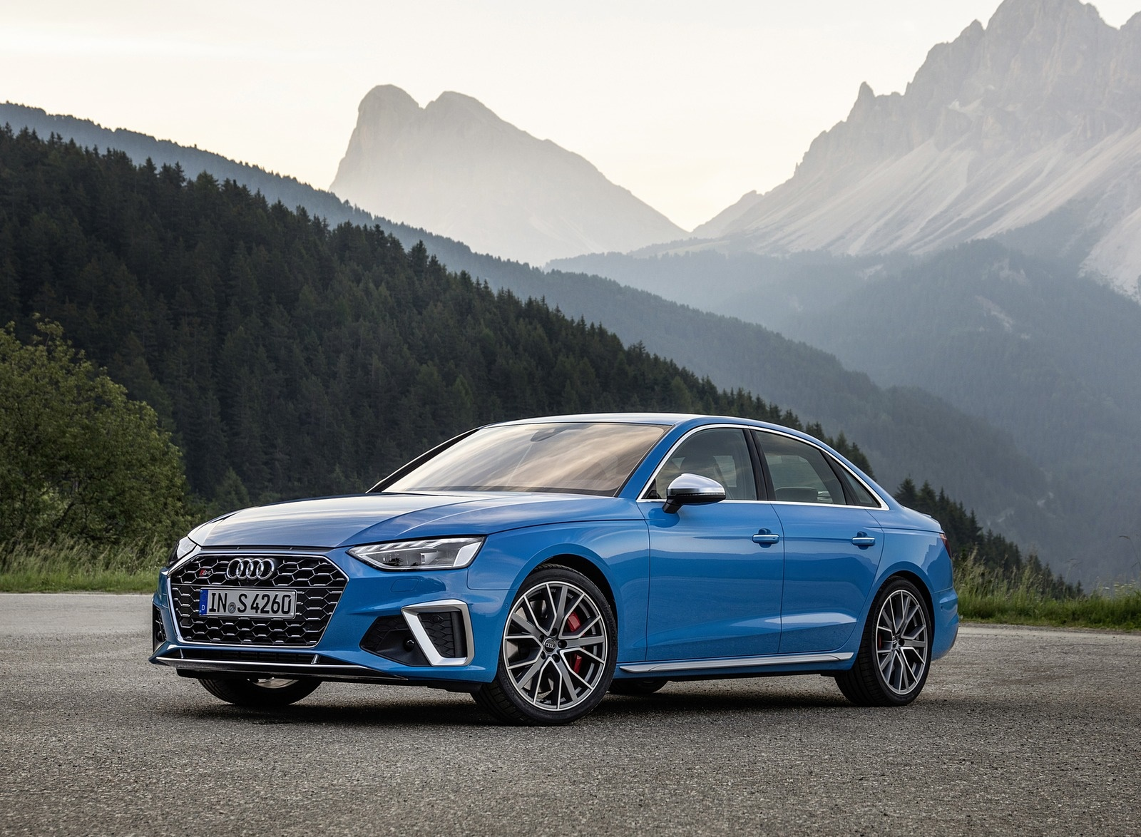 2019 Audi S4 TDI (Color: Turbo Blue) Front Three-Quarter Wallpapers (7)