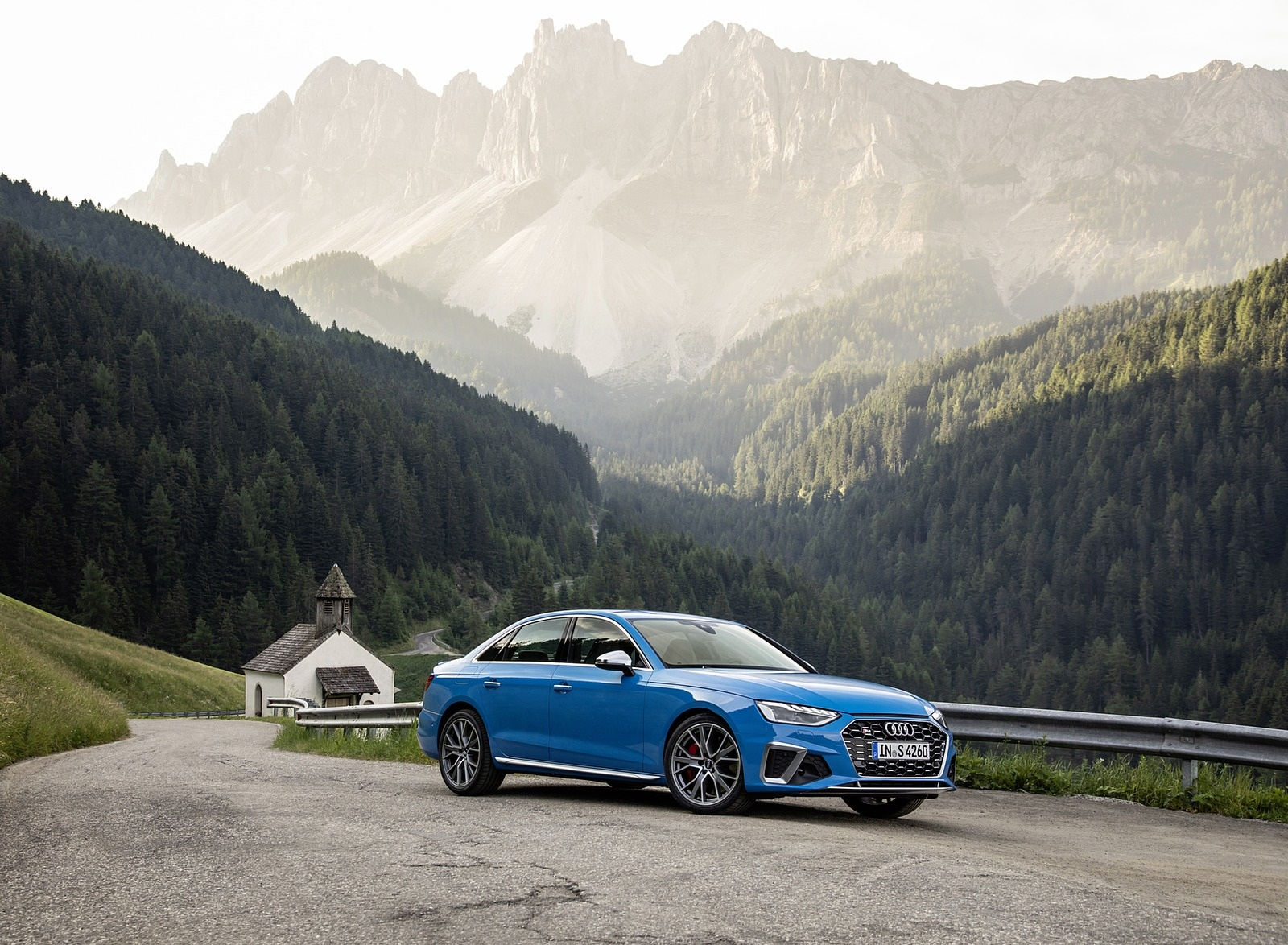 2019 Audi S4 TDI (Color: Turbo Blue) Front Three-Quarter Wallpapers (8)