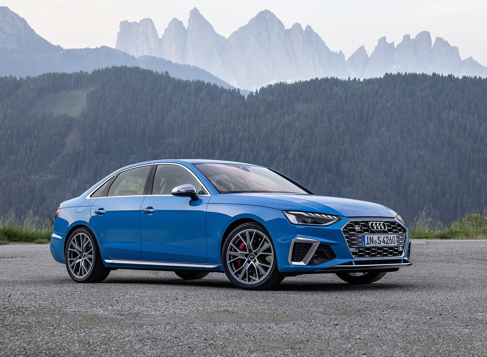 2019 Audi S4 TDI (Color: Turbo Blue) Front Three-Quarter Wallpapers (9)
