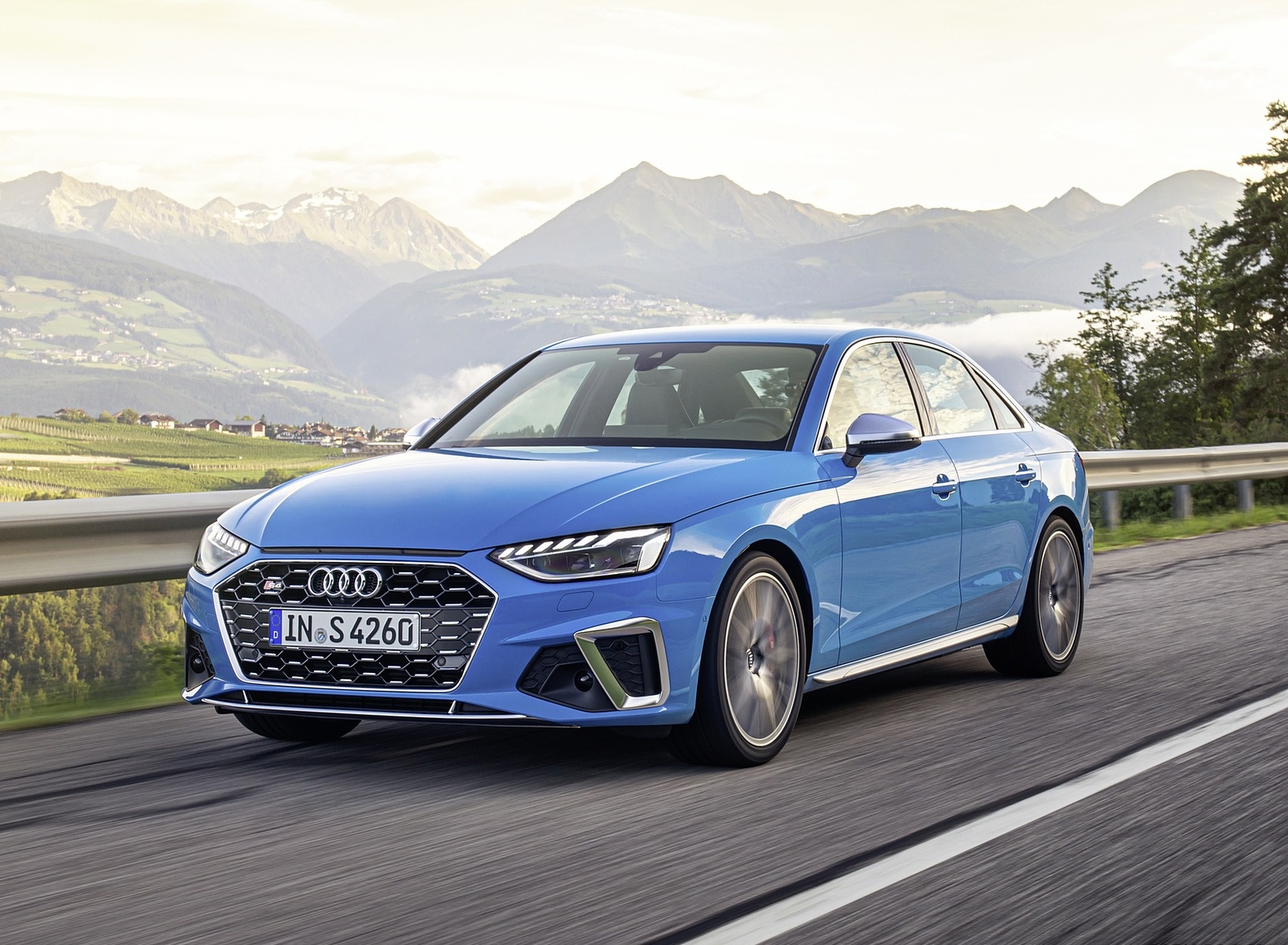 2019 Audi S4 TDI (Color: Turbo Blue) Front Three-Quarter Wallpapers (3)