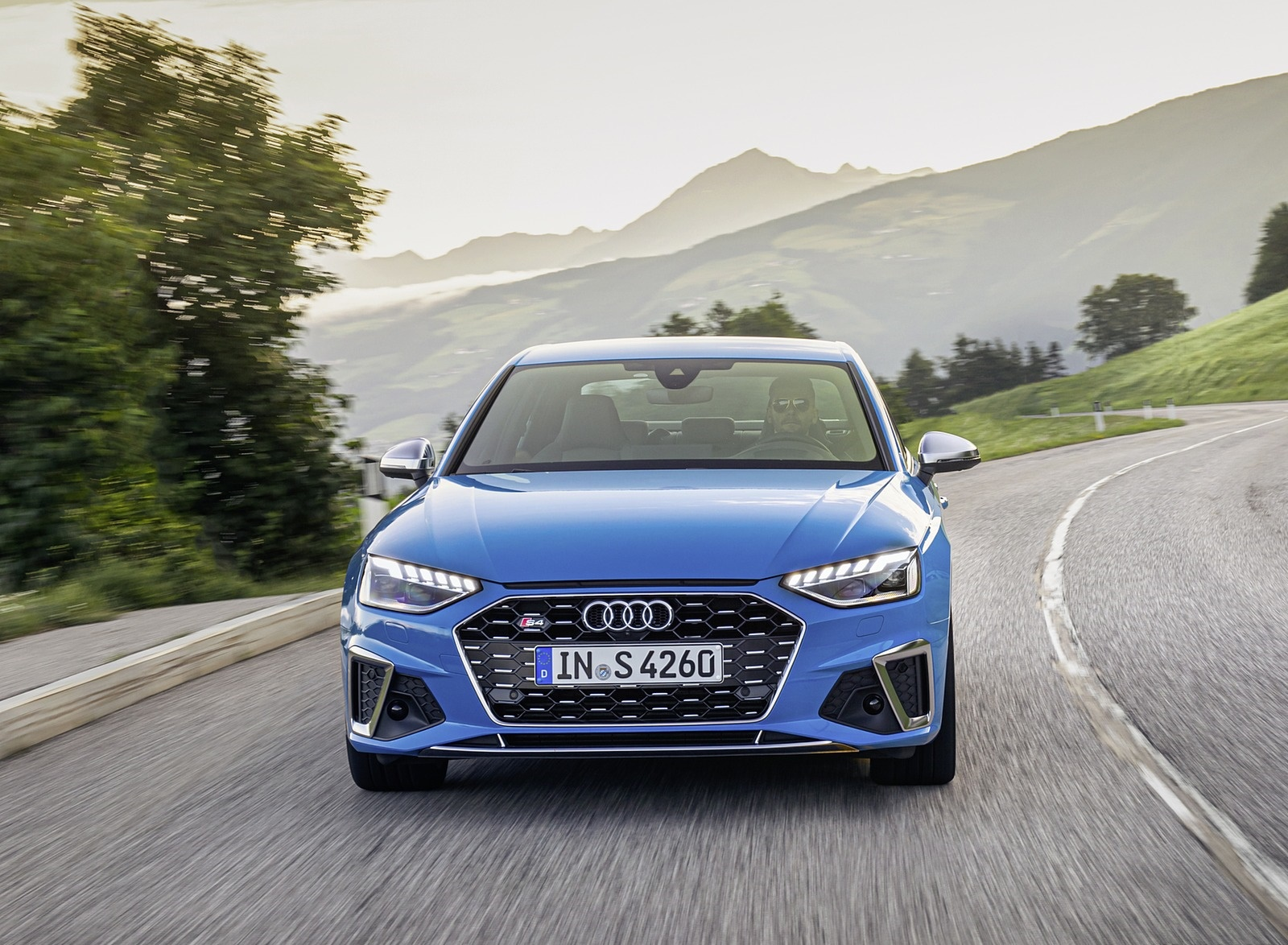 2019 Audi S4 TDI (Color: Turbo Blue) Front Wallpapers (1)