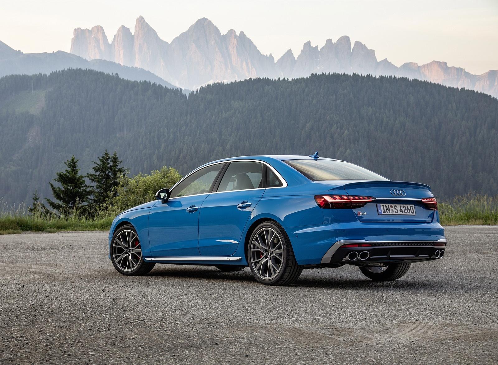 2019 Audi S4 TDI (Color: Turbo Blue) Rear Three-Quarter Wallpapers (10)