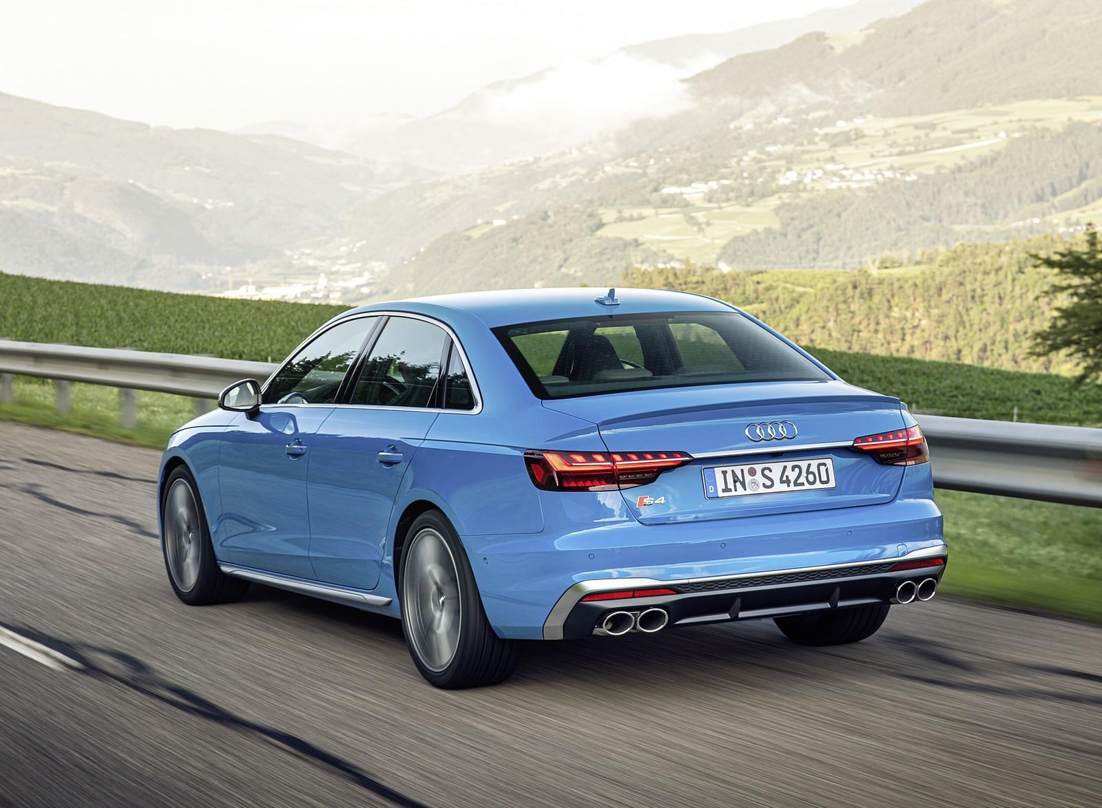 2019 Audi S4 TDI (Color: Turbo Blue) Rear Three-Quarter Wallpapers (4)