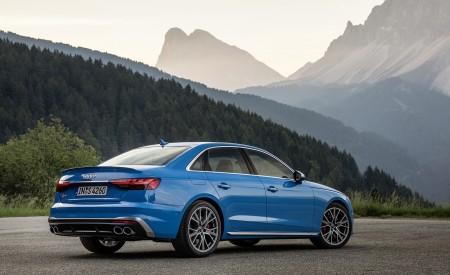 2019 Audi S4 TDI (Color: Turbo Blue) Rear Three-Quarter Wallpapers 450x275 (11)